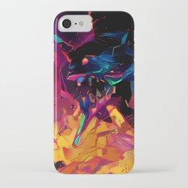 Neon Berserk Mecha iPhone Case