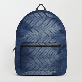 Shibori Chevron Stripe Backpack