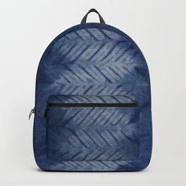 Shibori Chevron Stripe Backpack