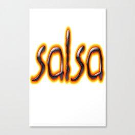 Salsa Marc On Fire Canvas Print
