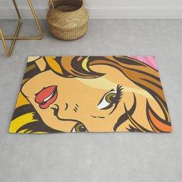 Roy Lichtenstein 1965 Girl with Hair Ribbon Rug