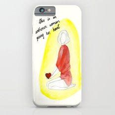 Unknown woman giving her heart iPhone 6s Slim Case