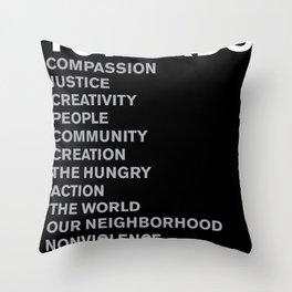 Revolt Towards (White) Throw Pillow
