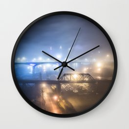 Cleveland In A Cloud Wall Clock