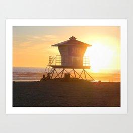 LIFEGUARD TOWER  Art Print