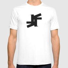 TSF Logo MEDIUM Mens Fitted Tee White