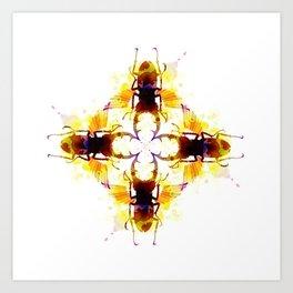 H20 Beetles Art Print