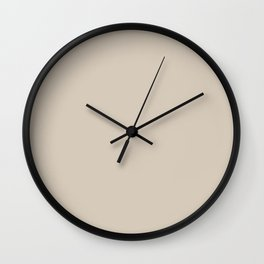 Pale Taupe Solid Color Pairs To Behr's 2021 Trending Color Almond Wisp PPU5-12 Wall Clock