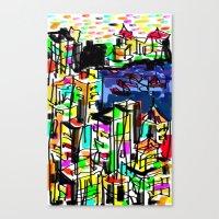 tokyo Canvas Prints featuring tokyo by sladja