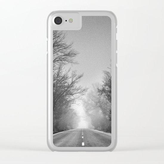 """Follow your dreams ...."" Monochrome Clear iPhone Case"