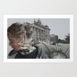 Earthquake Memorys  Art Print