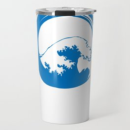 Enso Circle of Enlightenment with The great wave of Kanagawa by DeLaFont Travel Mug