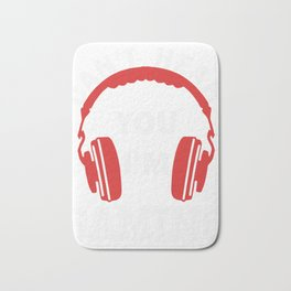 Video Gaming Gift Gamer Headset  Design Bath Mat