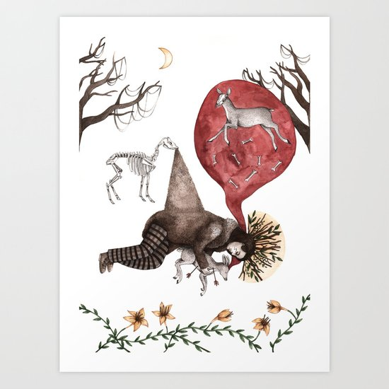 Dead Man Art Print