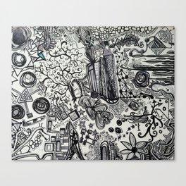 Black/White #2 Canvas Print