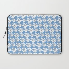 Daisies In The Summer Breeze - Blue Grey White Laptop Sleeve