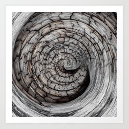 Spiralled Wood - Abstract Photography by Fluid Nature Art Print