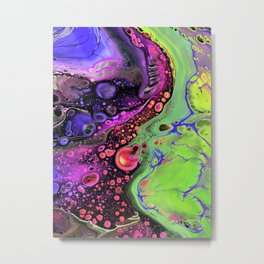 Jasper Sea - lime Metal Print