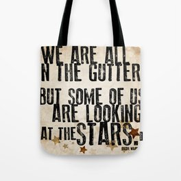 Oscar Wilde: Looking At The Stars Tote Bag