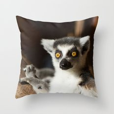 Lemur Catta Throw Pillow