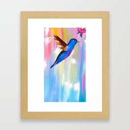 hummigbird phone Framed Art Print