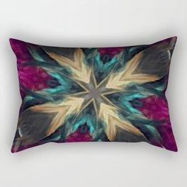 Girls Night Out Feather Boa Kaleidoscope Rectangular Pillow