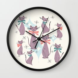 A Captivating Catalogue Of Classy Cats Wall Clock