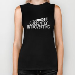 Currently Introverting Biker Tank