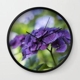 Hydrangea Bliss Wall Clock