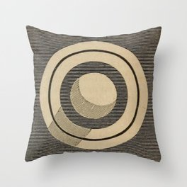 Vintage Saturn From Above Throw Pillow