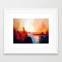 sublime Framed Art Prints featuring 'Sublime' by Caroline Jane Hill