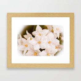 Perfect white Framed Art Print
