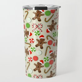 Gingerbread Men & Candy Travel Mug