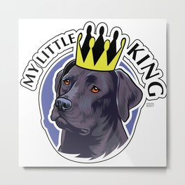 Labrador black king Metal Print