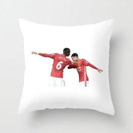 Pogba Lingard - Manchester United - Dab Throw Pillow