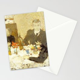 At Table - Digital Remastered Edition Stationery Cards