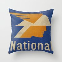 the national Throw Pillows featuring National Logo by Bruce Stanfield