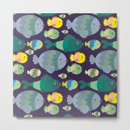Fish pattern Metal Print
