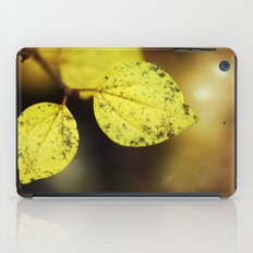 yellow leaves. iPad Case