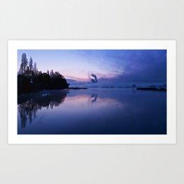 The blue river Art Print