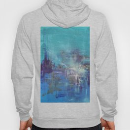 Blue Abstract Nature Painting Deep Blue Sea Hoody