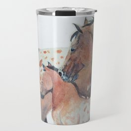 Mother's Love Appaloosa Horses Travel Mug
