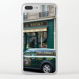 Paris Whisky Shop Clear iPhone Case