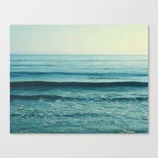 beach waves. Somewhere  Canvas Print