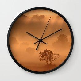 """Dawn"" whispered the mist Wall Clock"