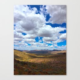 Clouds Over The Valley Canvas Print