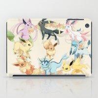 eevee iPad Cases featuring Eeveelutions by Stephanie Lee