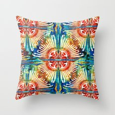 Pattern Art - Color Fusion Design 2 By Sharon Cummings Throw Pillow