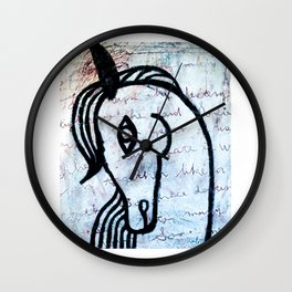 A horse from foreign country Wall Clock