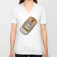 vans V-neck T-shirts featuring Cute brown Vans all star baby shoes apple iPhone 4 4s 5 5s 5c, ipod, ipad, pillow case and tshirt by Three Second